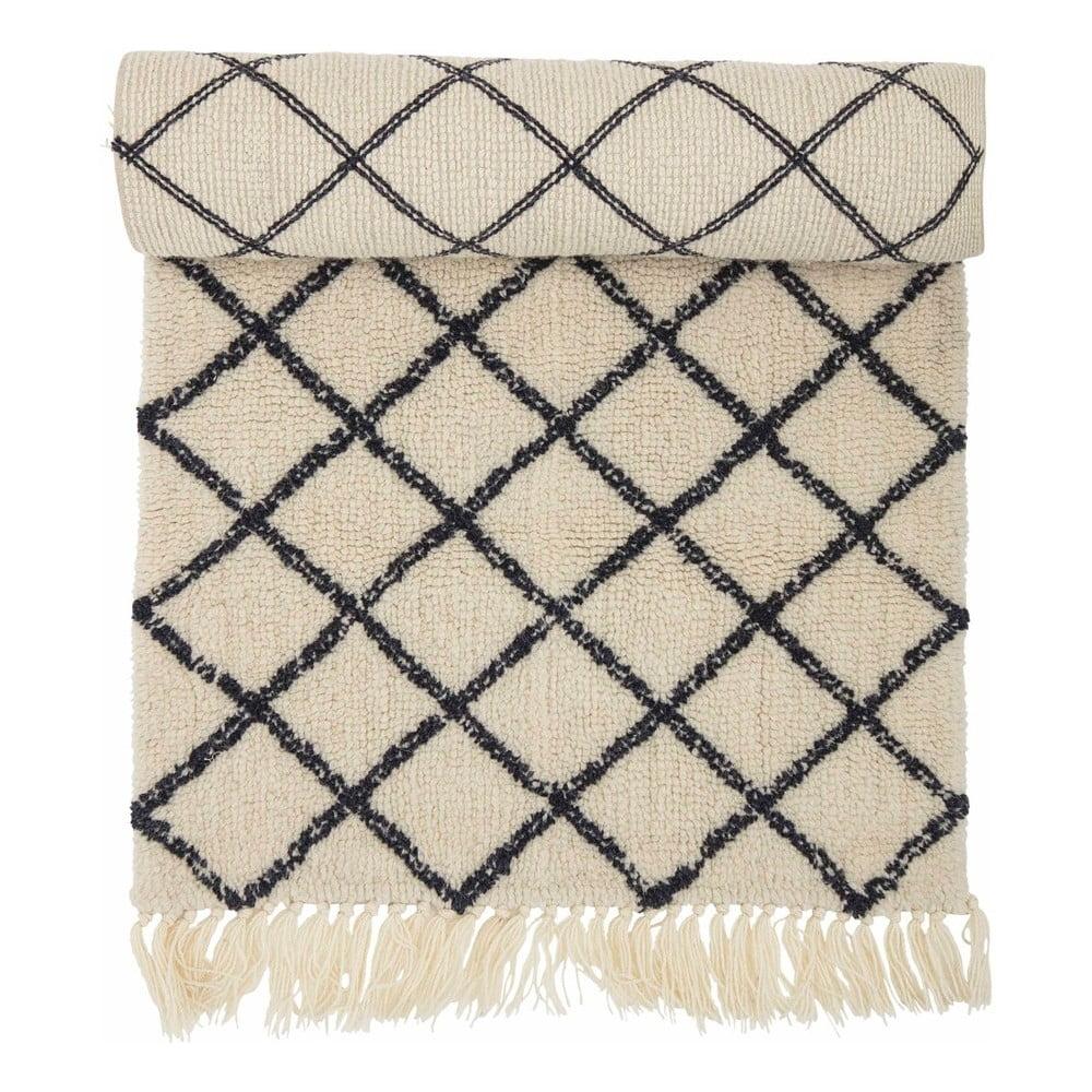 Koberec zo zmesi vlny a bavlny Bloomingville Ranto, 70 × 200 cm