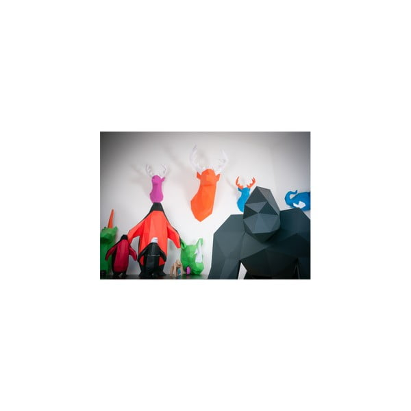 Papierová socha Gorila, ružová