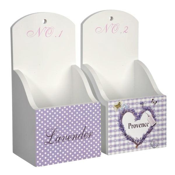 Závesné krabičky Purple Lady, 2 ks