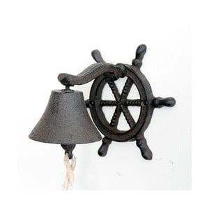 Liatinový nástenný zvonček Sea, tmavý
