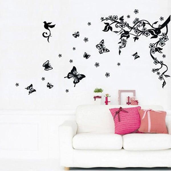 Samolepka na stenu Walplus Kŕdeľ motýlikov