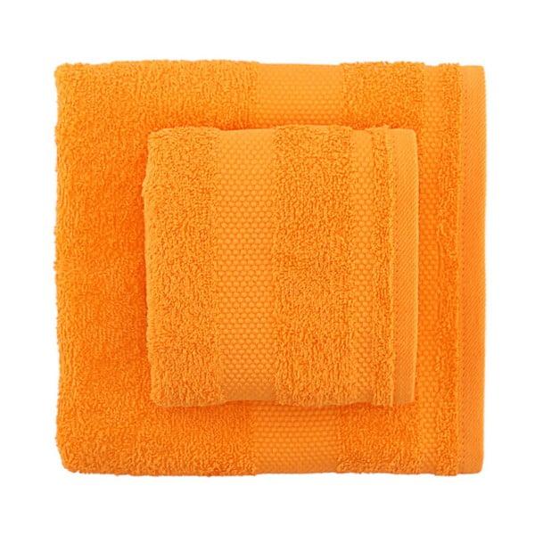 Sada 2 oranžových uterákov Clio
