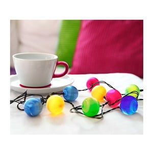 Svietiaca LED dekorácia Best Season Colour Balls, 10svetielok