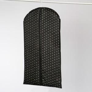 Čierny závesný obal na šaty Compactor Garment, dĺžka 100 cm
