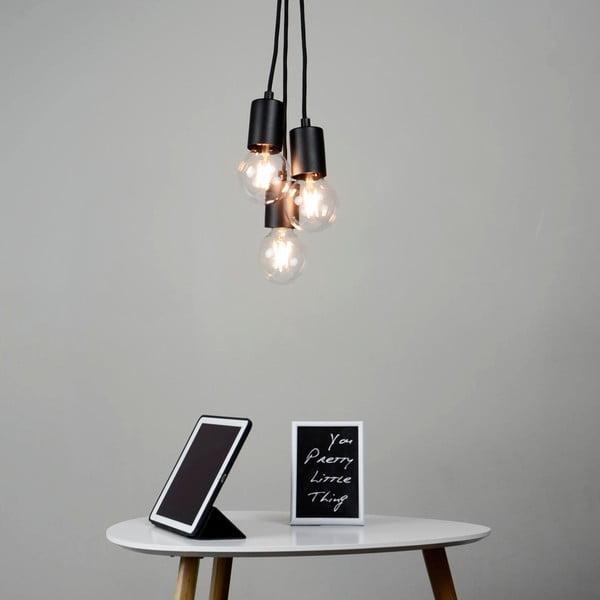 Čierne závesné svietidlo s 3 káblami Bulb Attack Cero Group