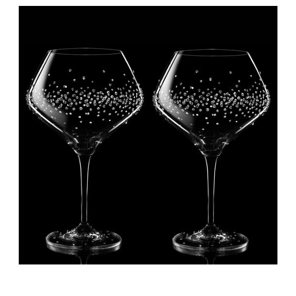Sada 2 pohárov na víno Hermes so Swarovski Elements v luxusnom balení
