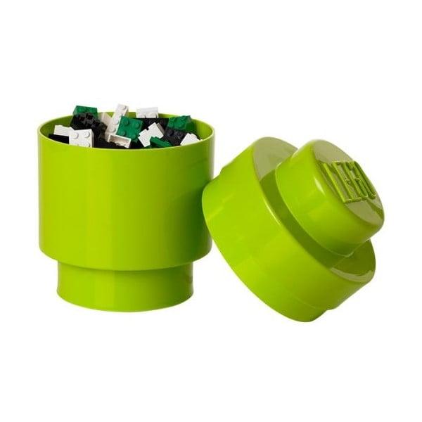 Okrúhly úložný box, zelený