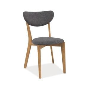 Čalúnená jedálenská stolička z dubového dreva Signal Andre