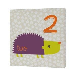 Nástenný obrázok Forest Friends Hedgehog, 27x27 cm