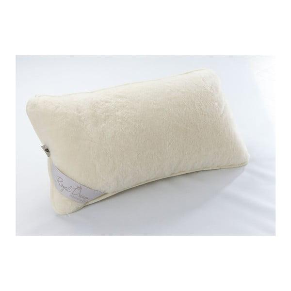 Vlnený vankúš Royal Dream Sel Cream, 40x70cm