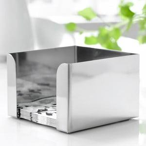 Strieborný box na obrúsky Steel Function, 12,5×12,5 cm