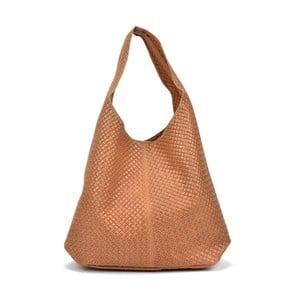 Koňakovohnedá kožená kabelka Mangotti Bags Estela