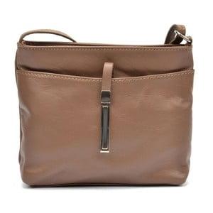 Hnedá kožená kabelka Roberta M Tarro Fango