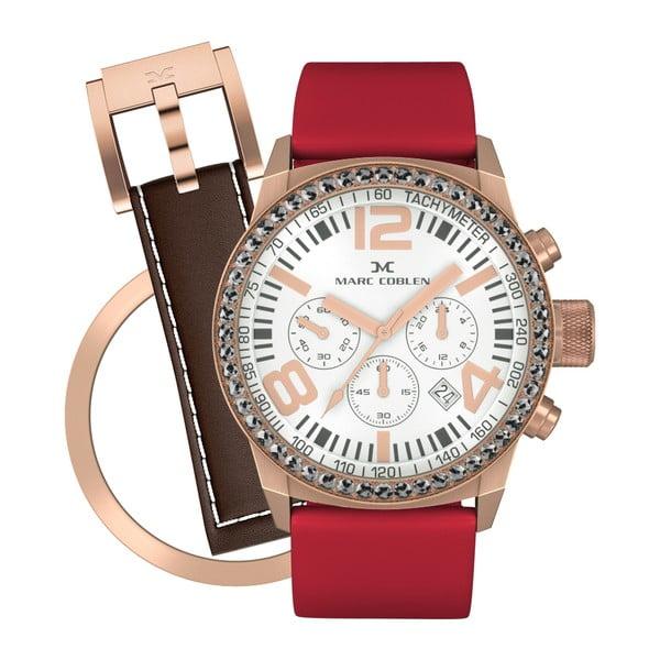Dámske hodinky Marc Coblen s remienkom a krúžkom na ciferník naviac P84
