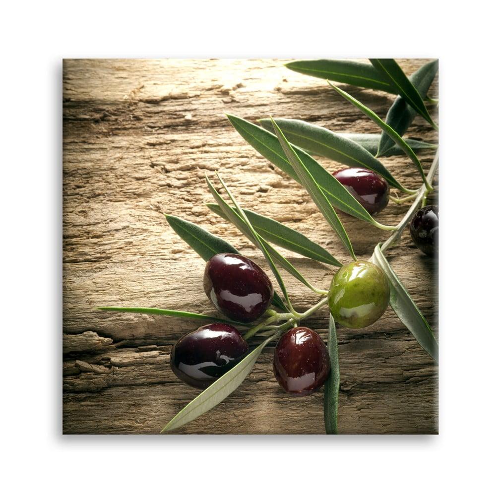 Obraz Styler Glas Kitchen Olives 4, 30 × 30 cm