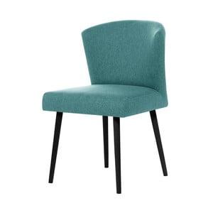 Svetlomodrá jedálenská stolička s čiernymi nohami My Pop Design Richter