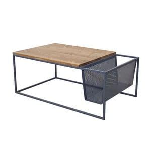 Odkladací stolík so stojanom na noviny Performa Graphite