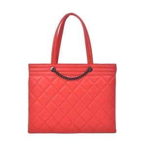 Červená kožená kabelka Roberta M Margot
