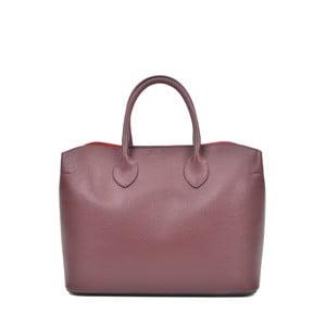 Vínovofialová kožená kabelka Isabella Rhea Manuel