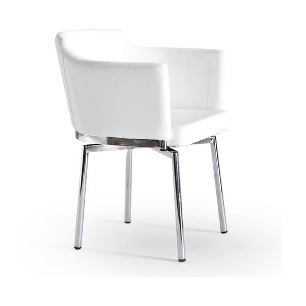 Sada 2 otočných stoličiek Detroit, biele