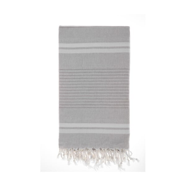 Hamam osuška Bodrum Grey, 100x180 cm