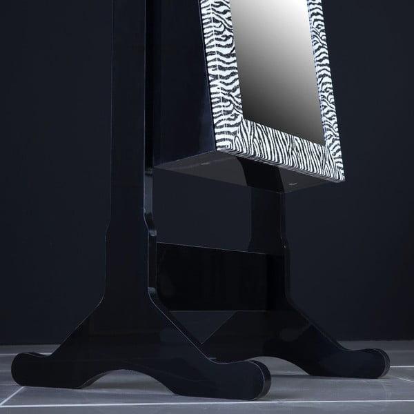 Uzamykateľné stojacie zrkadlo so šperkovnicou Adonna, leopardí vzor