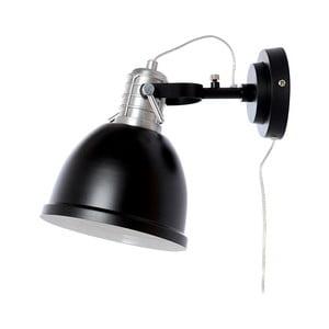 Čierne nástenné svietidlo Look4Lamps Casdock