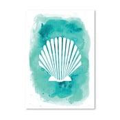 Plagát Watercolor Aqua Shell