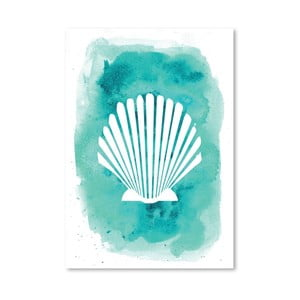 Plagát Watercolor Aqua Shell
