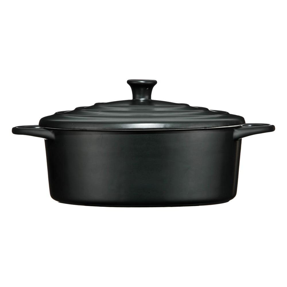 Čierny kameninový hrniec Premier Housewares, 2,5 l