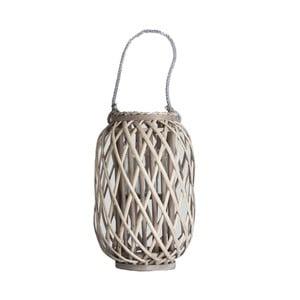 Lampáš z bambusu a skla Last Deco Malak, výška 40 cm