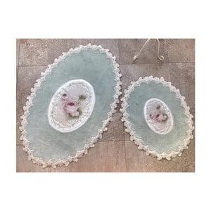 Sada 2 kúpeľňových predložiek Alessia Inci Oval Mint