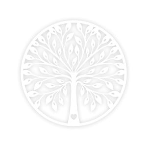 Biela nástenná dekorácia Tree