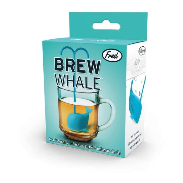 Modré sitko na čaj v tvare veľryby Fred & Friends Brew Whale