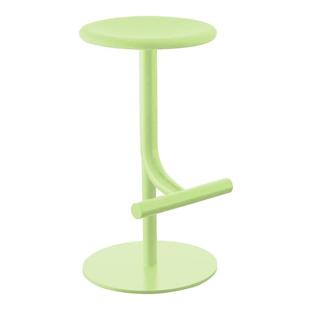 Svetlozelená barová stolička Magis Tibu, výška 60/77 cm