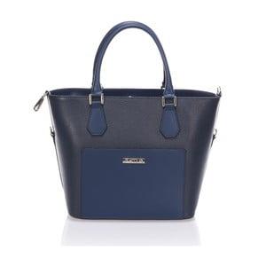 Kožená kabelka Krole Kayleen, modrá