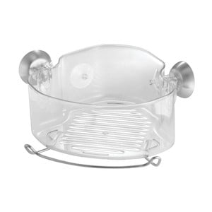 Transparentný rohový samodržiaci košík iDesing Soap Shower