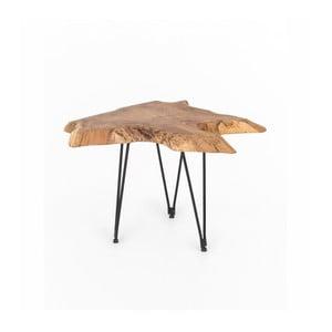 Konferenčný stolík s doskou z teakového dreva WOOX LIVING Natura, 50 × 50 cm