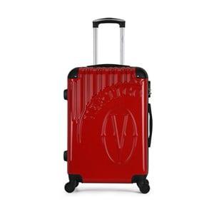 Červený cestovný kufor na kolieskach VERTIGO Valise Grand Format Duro, 33 × 52 cm