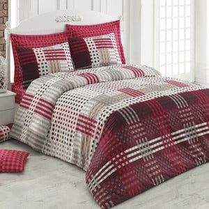 Bavlnené obliečky s plachtou Cameron,200x220cm, červené