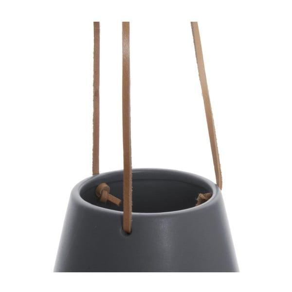 Sivý závesný kvetináč PT LIVING Skittle, ⌀ 12,2cm