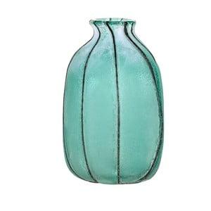 Modrá sklenená váza Dino Bianchi Lecce, výška 23,5 cm