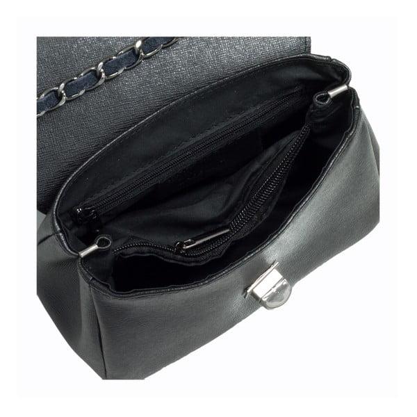 Čierna kožená kabelka Giorgio Costa Enrichetta