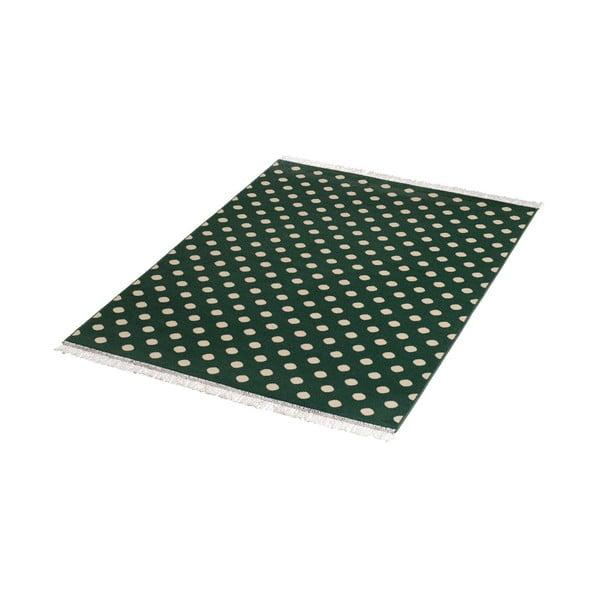 Zelený koberec HanseHome Fringe, 140x200cm