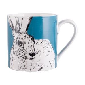 Modrý porcelánový hrnček Creative Tops Wild Hare, 300 ml