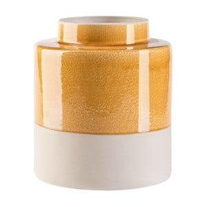Krémovo-žltá váza Vox Hola, výška 25,5 cm