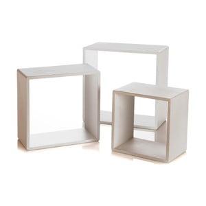 Sada 3 nástenných políc Modular White