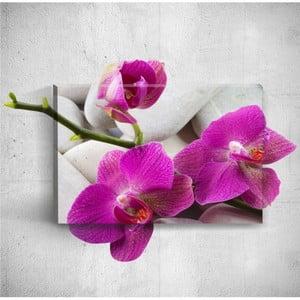 Nástenný 3D obraz Mosticx Pebbles With Three Flowers, 40×60 cm