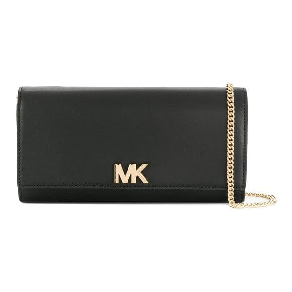 Čierna kožená listová kabelka Michael Kors Mott