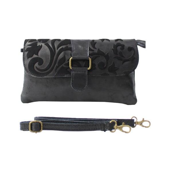 Čierna listová kabelka Candy